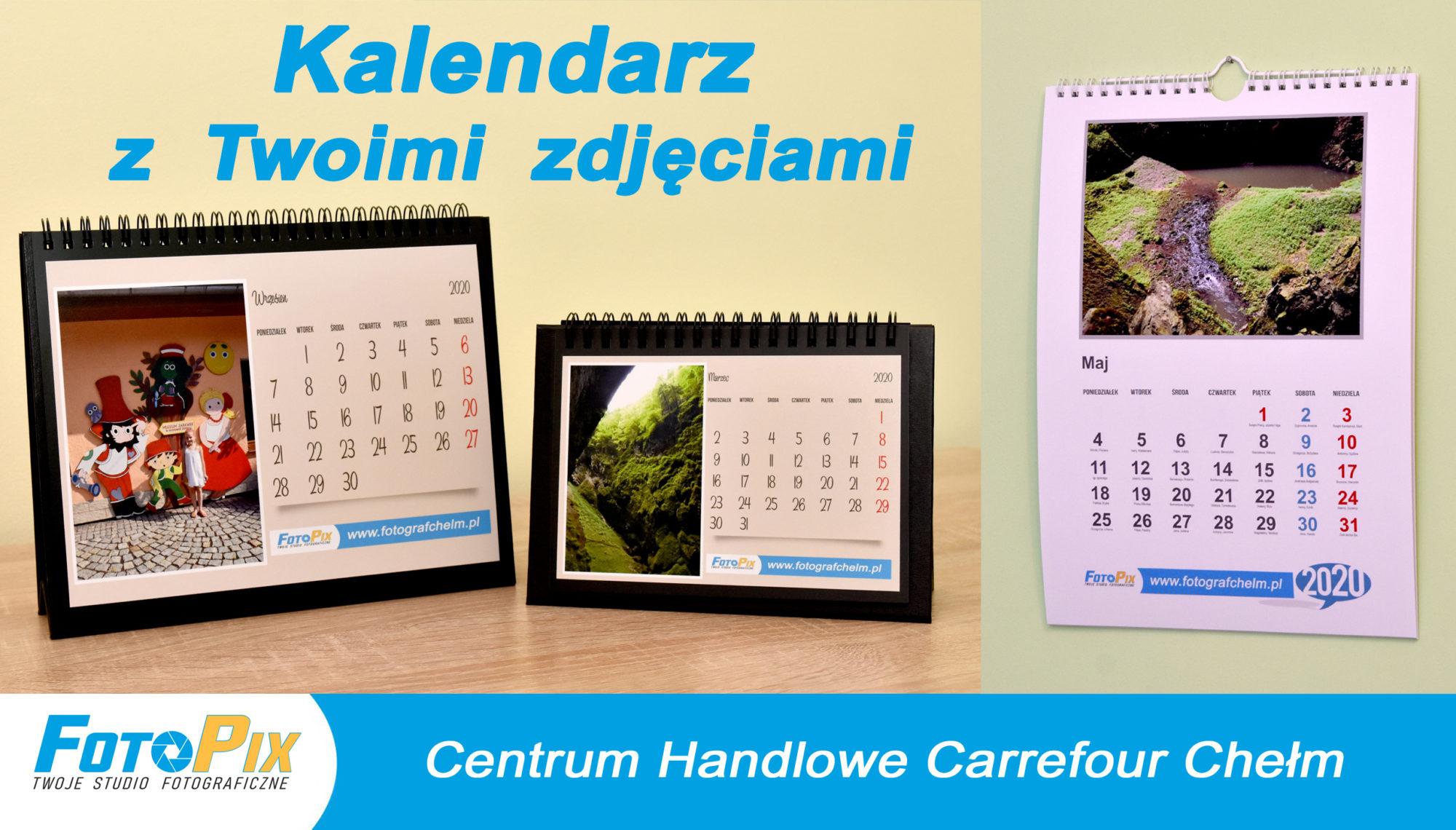 Foto kalendarz z Twoimi zdjęciami